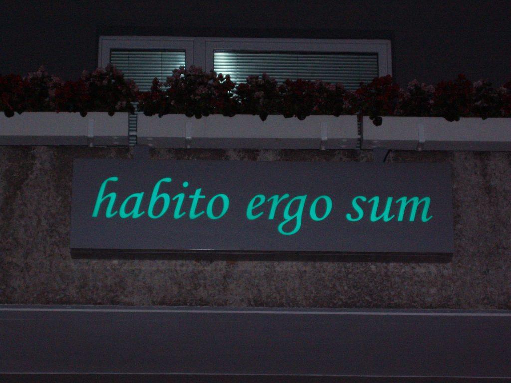 Habito ergo sum - Leuchtkasten